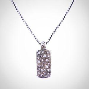 David Yurman starry night dog tag pendant
